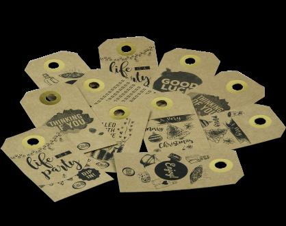 Labels Oil and Vinegar